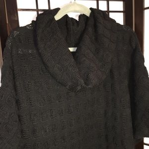 New Directions Cable-Knit Cowl Neck Tunic Sweater